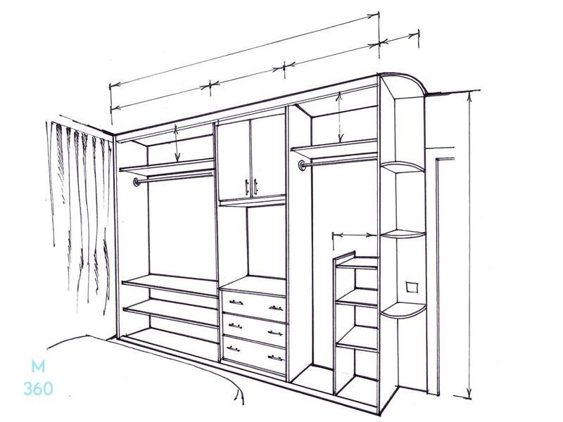 Встроенный шкаф на заказ Арт 5