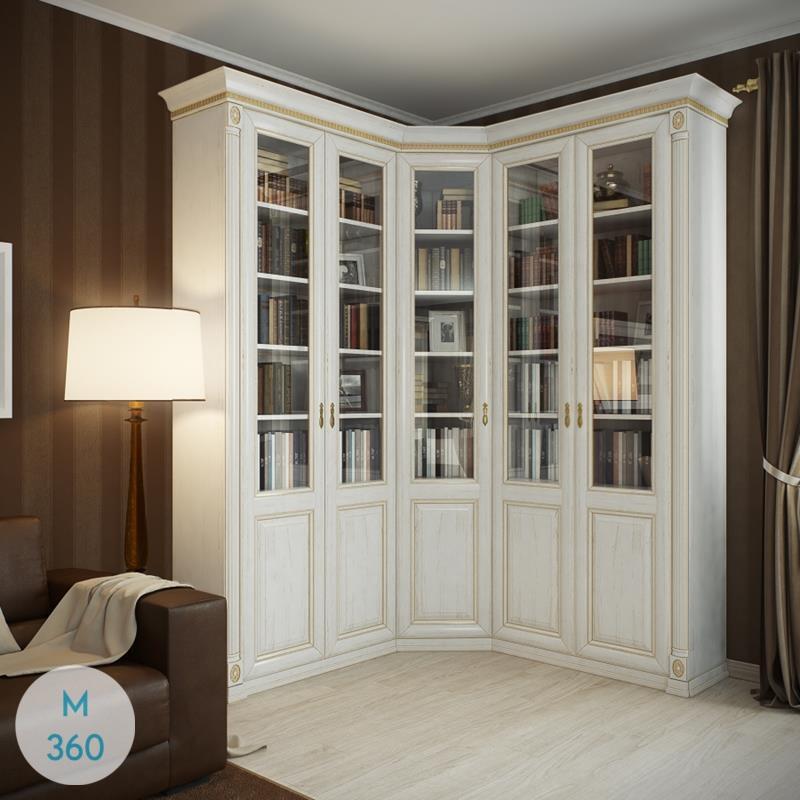 Угловой книжный шкаф Бисау Арт 000613350