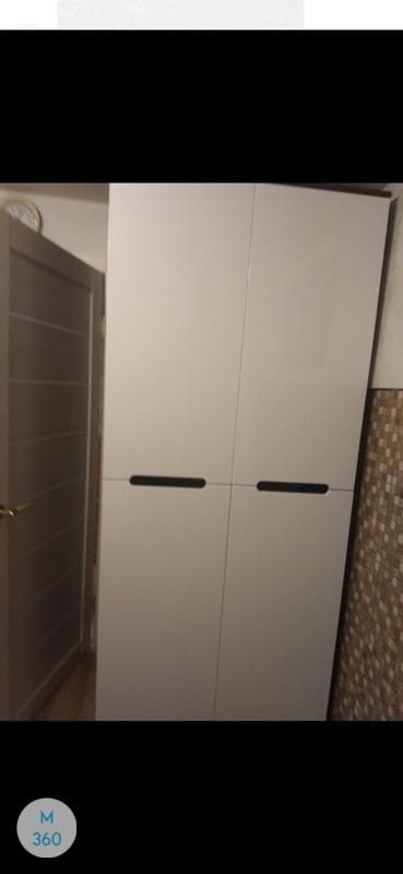 Распашной глянцевый шкаф Иглу Арт 001813505