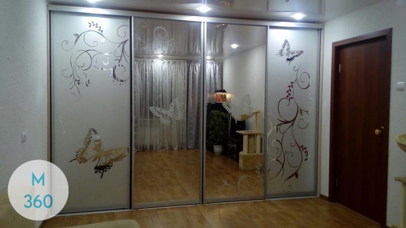 Шкаф купы с пескоструйным рисунком Окснард Арт 005140433