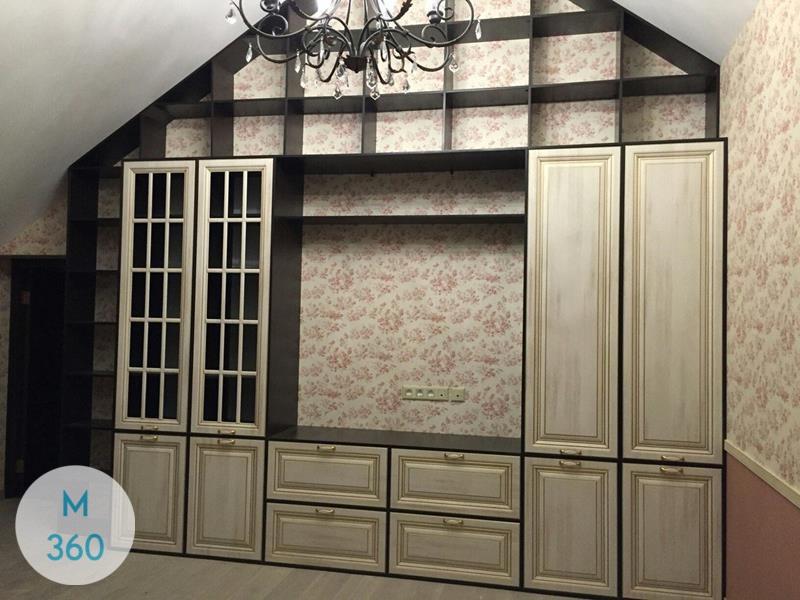 Книжный шкаф со стеклянными дверцами Асбест Арт 006298437