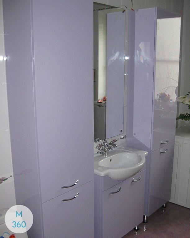 Шкаф в ванную с корзиной Эр-Рияд Арт 007630229