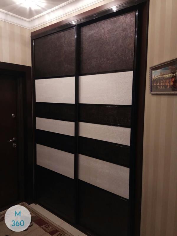 Шкаф купе с кожаными вставками Гаити Арт 008182327