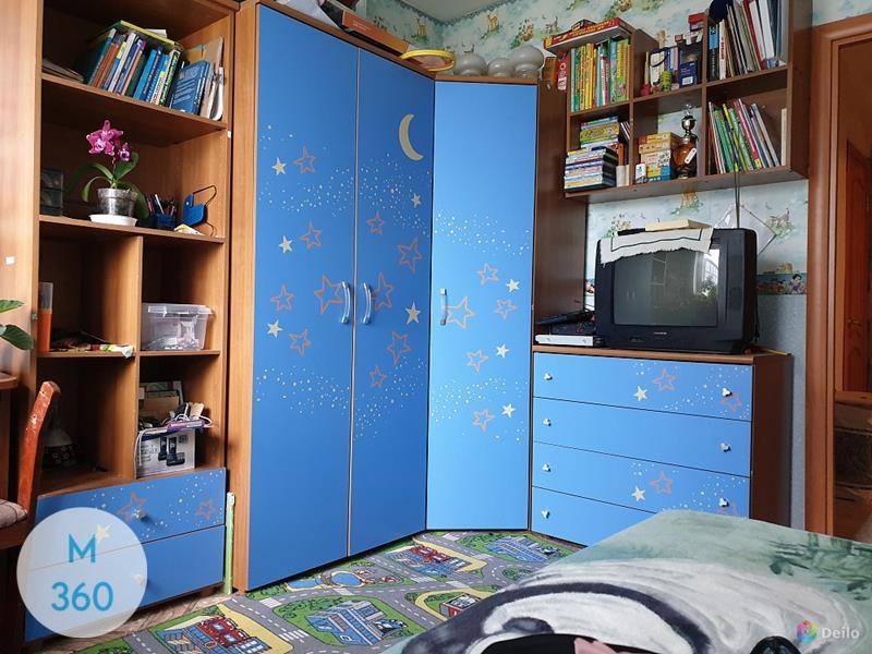 Синий распашной шкаф Испания Арт 009523695