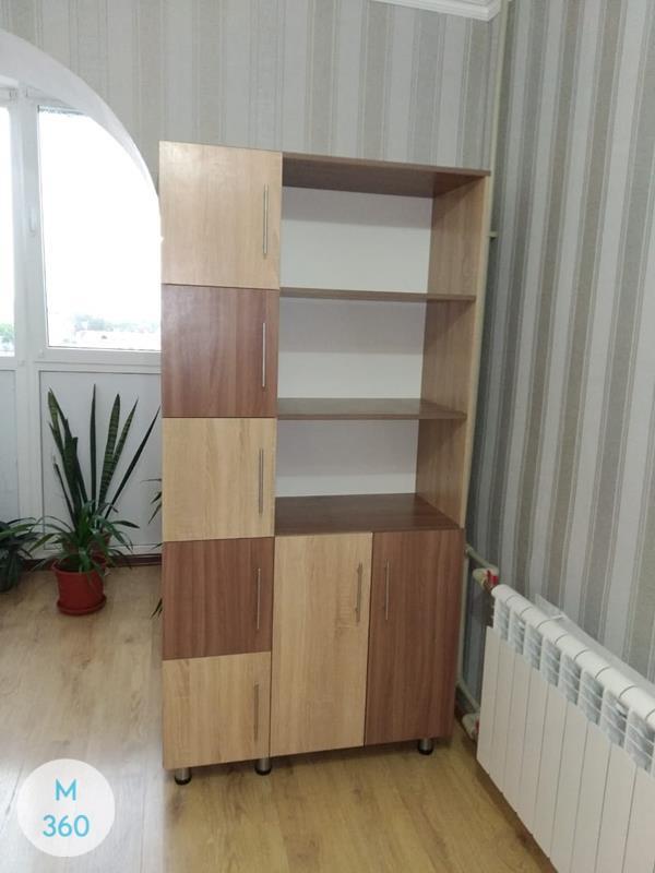 Книжный шкаф со стеклянными дверцами Изерлон Арт 009741626