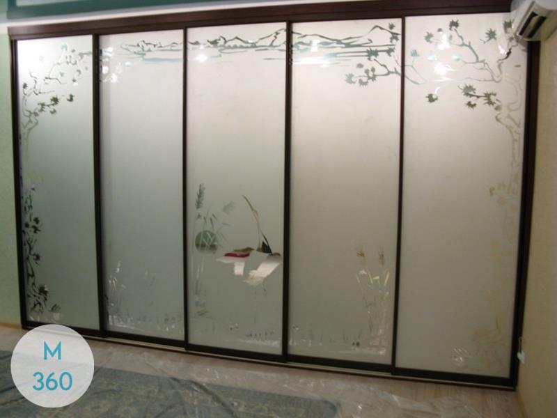 Шкаф купы с пескоструйным рисунком Мальме Арт 009850481